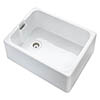 Rangemaster Farmhouse Belfast Ceramic Kitchen Sink Inc. Basket Strainer Waste profile small image view 1
