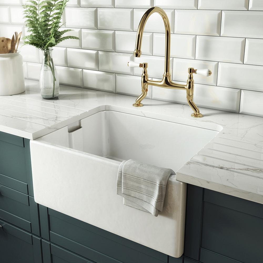 Rangemaster Farmhouse Belfast Kitchen Sink Ceramic Sinks