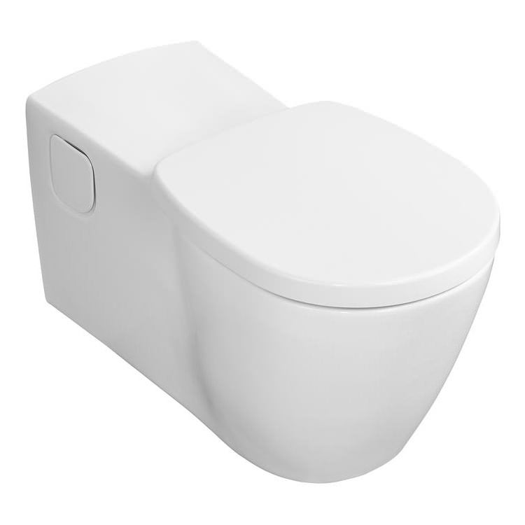Ideal Standard Concept Freedom Elongated Wall Hung WC with Seat + Cover