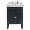Heritage Caversham Granley Graphite Vanity Unit with Chrome Handles & Basin profile small image view 1