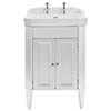 Heritage Caversham Granley Dove Grey Vanity Unit with Chrome Handles & Basin profile small image view 1