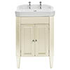 Heritage Caversham Granley Oyster Vanity Unit with Chrome Handles & Basin profile small image view 1