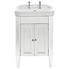 Heritage Caversham Granley White Ash Vanity Unit with Chrome Handles & Basin profile small image view 1