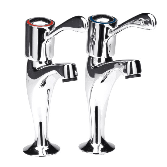 Ultra Contemporary High Neck Sink Taps - Chrome - CG310