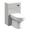 Cove Light Grey 500x300mm BTW Toilet Unit Inc. Cistern + Soft Close Seat profile small image view 1