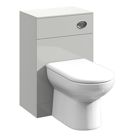 Cove Light Grey 500x330mm BTW Toilet Unit Inc. Cistern + Soft Close Seat