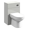 Cove Light Grey 500x330mm BTW Toilet Unit inc. Cistern + Soft Close Seat profile small image view 1