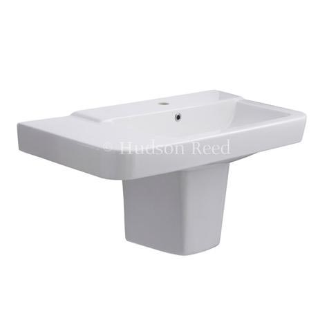 Hudson Reed - Granger 850mm Basin 1TH & Semi Pedestal - CGR003