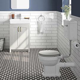 Chatsworth Grey 4-Piece Low Level Bathroom Suite