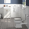 Chatsworth Grey 4-Piece Low Level Bathroom Suite profile small image view 1