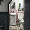 Chatsworth Traditional Grey Cloakroom Suite (Vanity Unit + Close Coupled Toilet) profile small image view 1