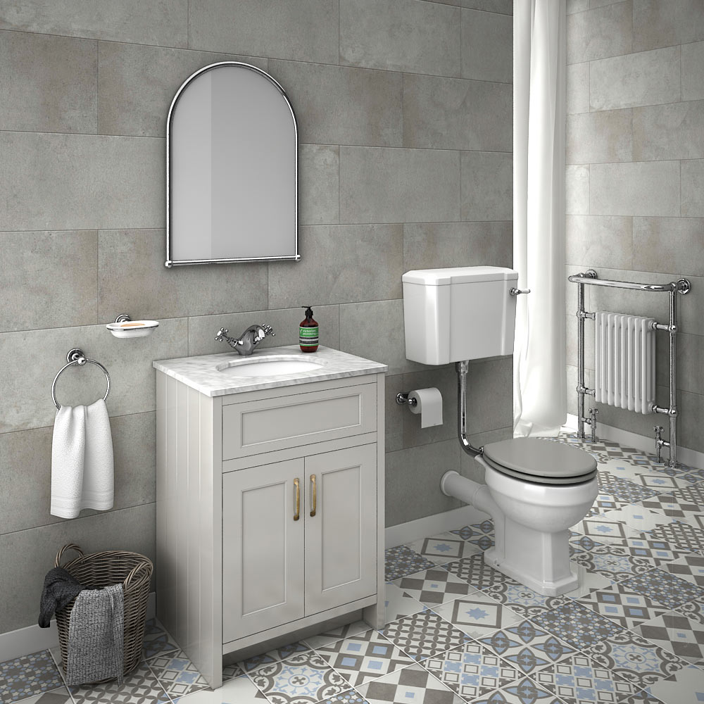 Chatsworth grey white marble 4 piece low level bathroom for Bathroom designs hd images