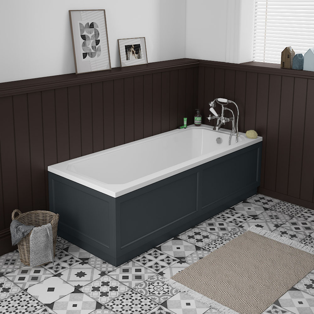 Chatsworth Graphite 1700 x 700 Single Ended Bath + Panels