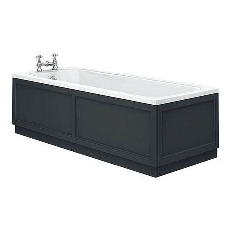 Chatsworth Graphite 1700 x 700 Single Ended Bath + Panels