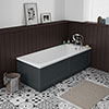 Chatsworth Graphite 1700 x 700 Single Ended Bath + Panels profile small image view 1