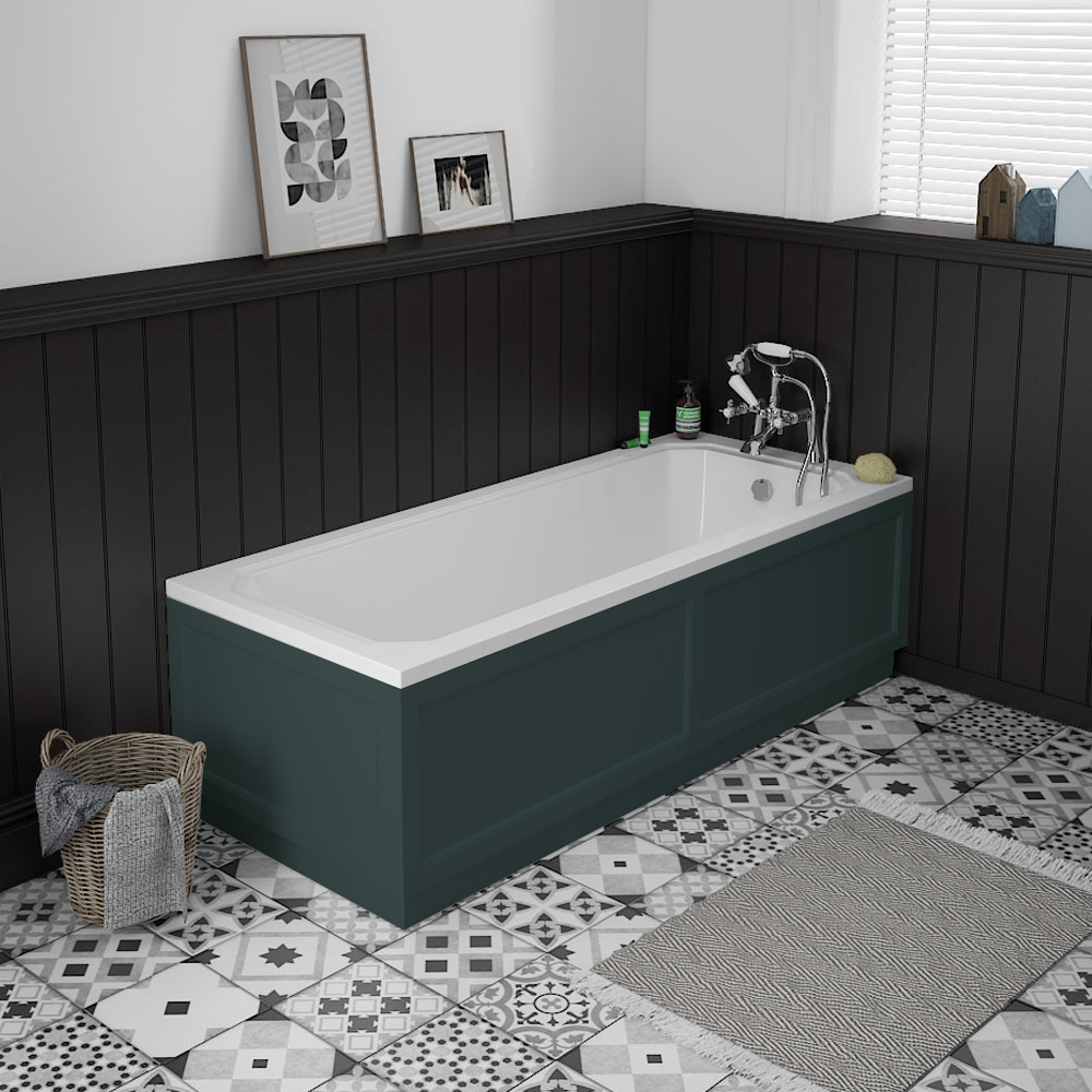 Chatsworth 1700 x 700 Single Ended Bath + Green Panels