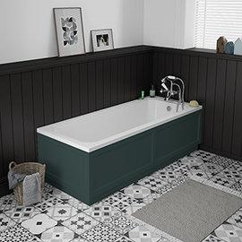 Chatsworth 1700 x 700 Single Ended Bath + Green Panels