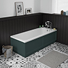 Chatsworth 1700 x 700 Single Ended Bath + Green Panels profile small image view 1