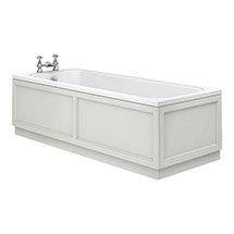 Chatsworth 1700 x 700 Single Ended Bath + Grey Panels Medium Image