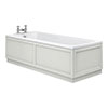 Chatsworth 1700 x 700 Single Ended Bath + Grey Panels profile small image view 1