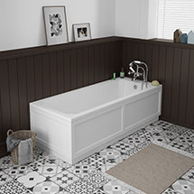 Chatsworth 1700 x 700 Single Ended Bath + White Panels Medium Image