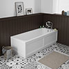 Chatsworth 1700 x 700 Single Ended Bath + White Panels profile small image view 1