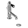 Burlington Chelsea Black Straight Basin Mixer with Pop-up Waste profile small image view 1