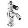 Burlington Chelsea Black Curved Bidet Mixer with Pop-up Waste profile small image view 1
