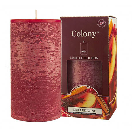 Wax Lyrical Colony Mulled Wine Pillar Scented Candle
