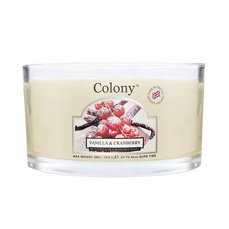 Wax Lyrical Colony Vanilla & Cranberry Multi-Wick Scented Candle