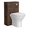Ronda Chestnut WC Unit - 500mm Wide Medium Image