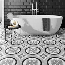 Charlbury Black U0026 White Wall And Floor Tiles   200 X 200mm Medium Image