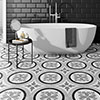 Charlbury Black & White Wall and Floor Tiles - 200 x 200mm Small Image