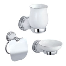 Charlbury Traditional Bathroom Accessories Set - Chrome Medium Image