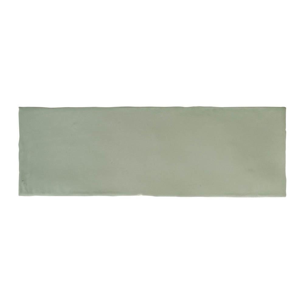Chesham Rustic Green Gloss Ceramic Wall Tiles 100 x 300mm Large Image