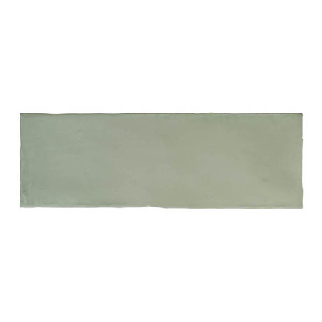 Chesham Rustic Green Gloss Ceramic Wall Tiles 100 x 300mm