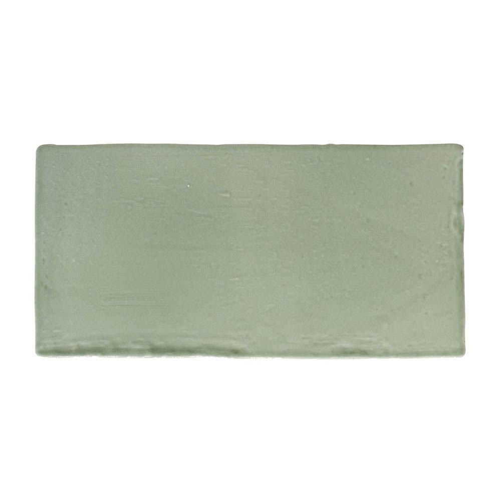 Chesham Rustic Green Gloss Ceramic Wall Tiles 150 x 75mm  Profile Large Image