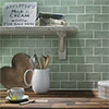 Chesham Rustic Green Gloss Ceramic Wall Tiles 150 x 75mm Small Image