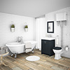 Chatsworth High Level Graphite Roll Top Bathroom Suite profile small image view 1