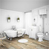 Chatsworth High Level White Roll Top Bathroom Suite profile small image view 1