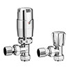 Apollo Modern Chrome Angled Thermostatic Radiator Valves Small Image