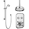 Chatsworth 1928 Traditional Push-Button Shower Pack with Slide Rail Kit + Ceiling Mounted Head profile small image view 1