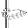 Chatsworth Traditional Clamp-On Soap Basket profile small image view 1