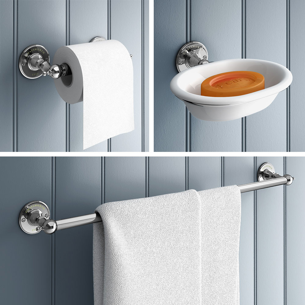 Chatsworth 1928 Traditional 3-Piece Bathroom Accessory Pack ...