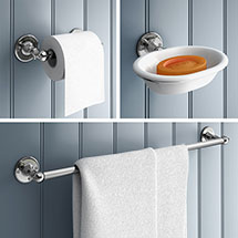 Chatsworth 1928 Traditional 3-Piece Bathroom Accessory Pack Medium Image