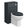 Chatsworth Traditional Graphite Complete Toilet Unit profile small image view 1