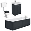 Chatsworth Graphite Bathroom Suite Inc. 1700 x 700 Bath with Panels profile small image view 1