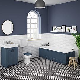 Chatsworth Blue Bathroom Suite inc. 1700 x 700 Bath with Panels