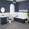 Chatsworth Blue Bathroom Suite Inc. 1700 x 700 Bath with Panels profile small image view 1