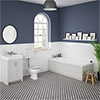 Chatsworth Grey Bathroom Suite Inc. 1700 x 700 Bath with Panels profile small image view 1